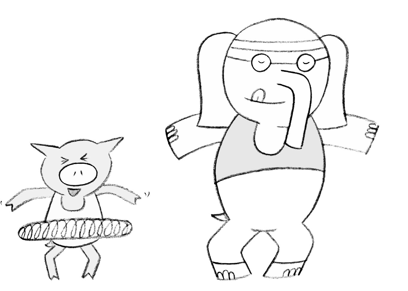 Elephant And Piggie Coloring Pages Elephant And Piggie Coloring Pages Elephant And Piggie Coloring