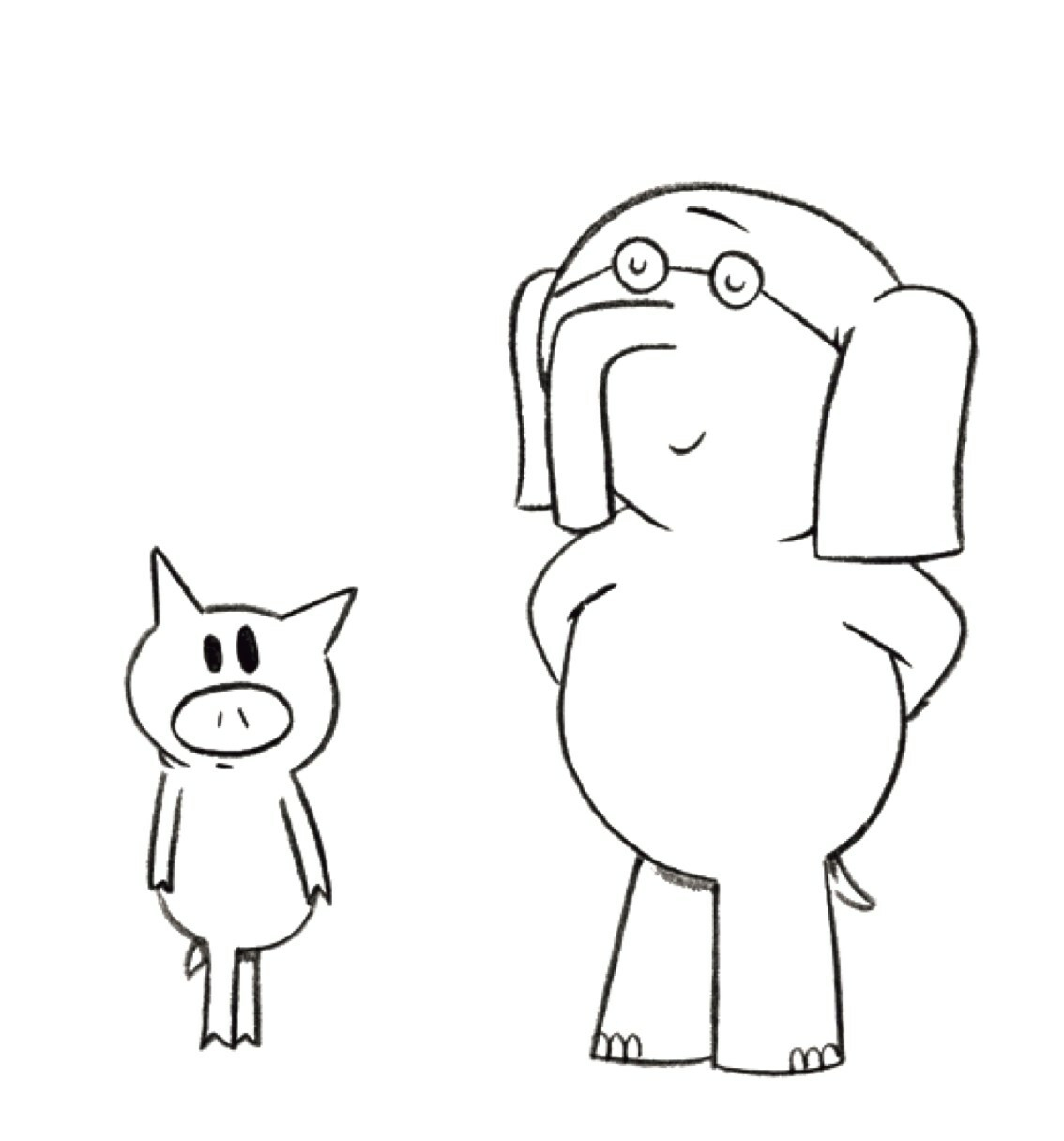 Elephant And Piggie Coloring Pages Elephant And Piggie Coloring Pages Pdf Dreade