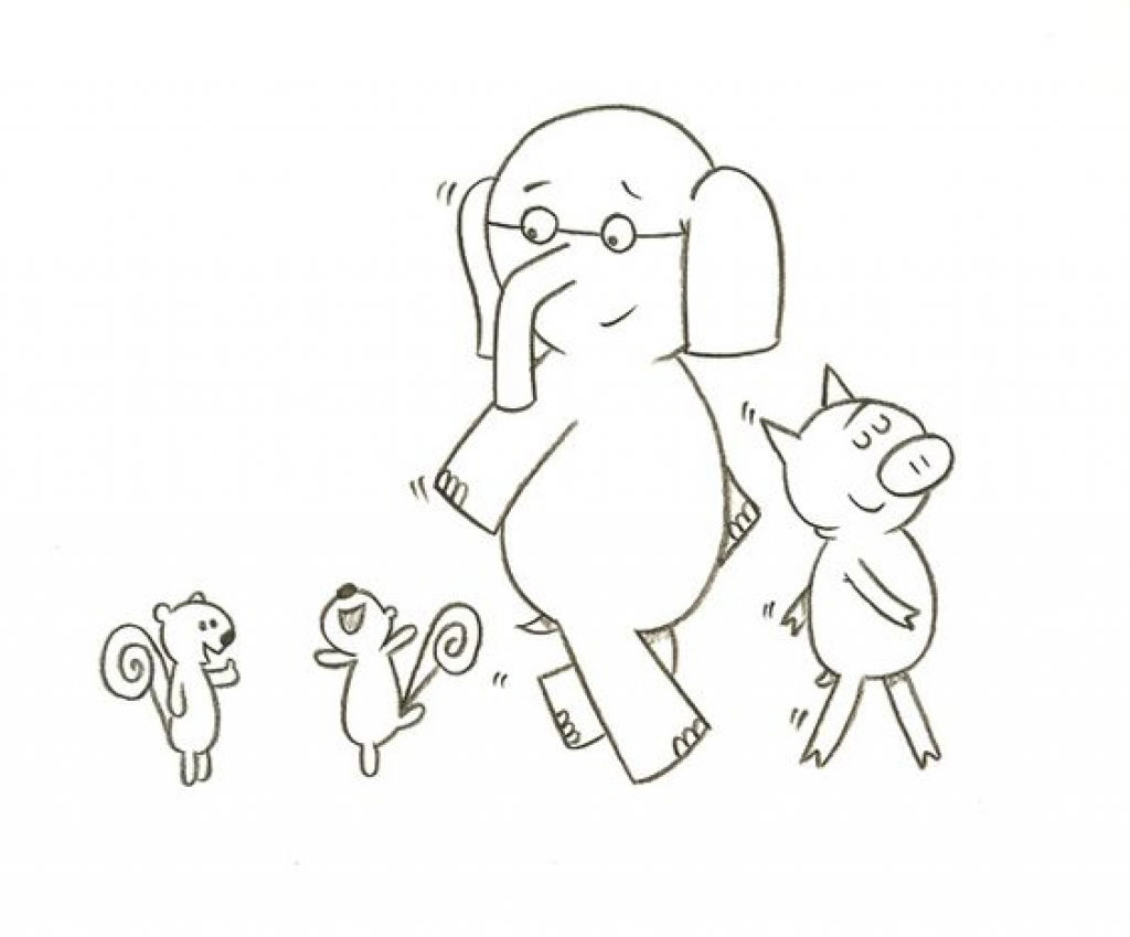 Elephant And Piggie Coloring Pages Mo Willems Coloring Pages Elephant And Piggie Color Gerrydraaisma