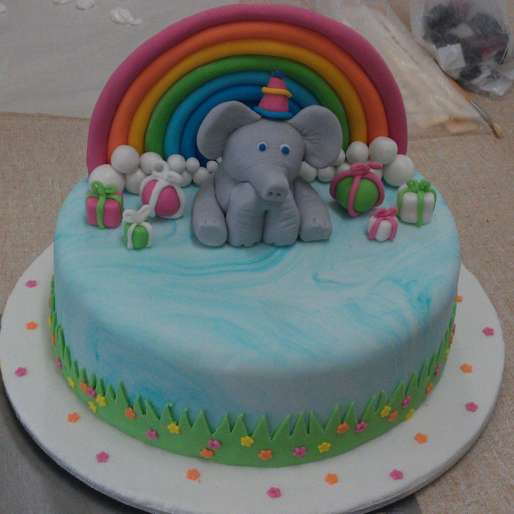 Elephant Birthday Cakes 8 Elephant Happy Birthday Cakes Photo Elephant Birthday Cake