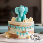 Elephant Birthday Cakes Blue Elephant Birthday Cake Floury Hands