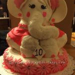 Elephant Birthday Cakes Coolest 3d Elephant Cake