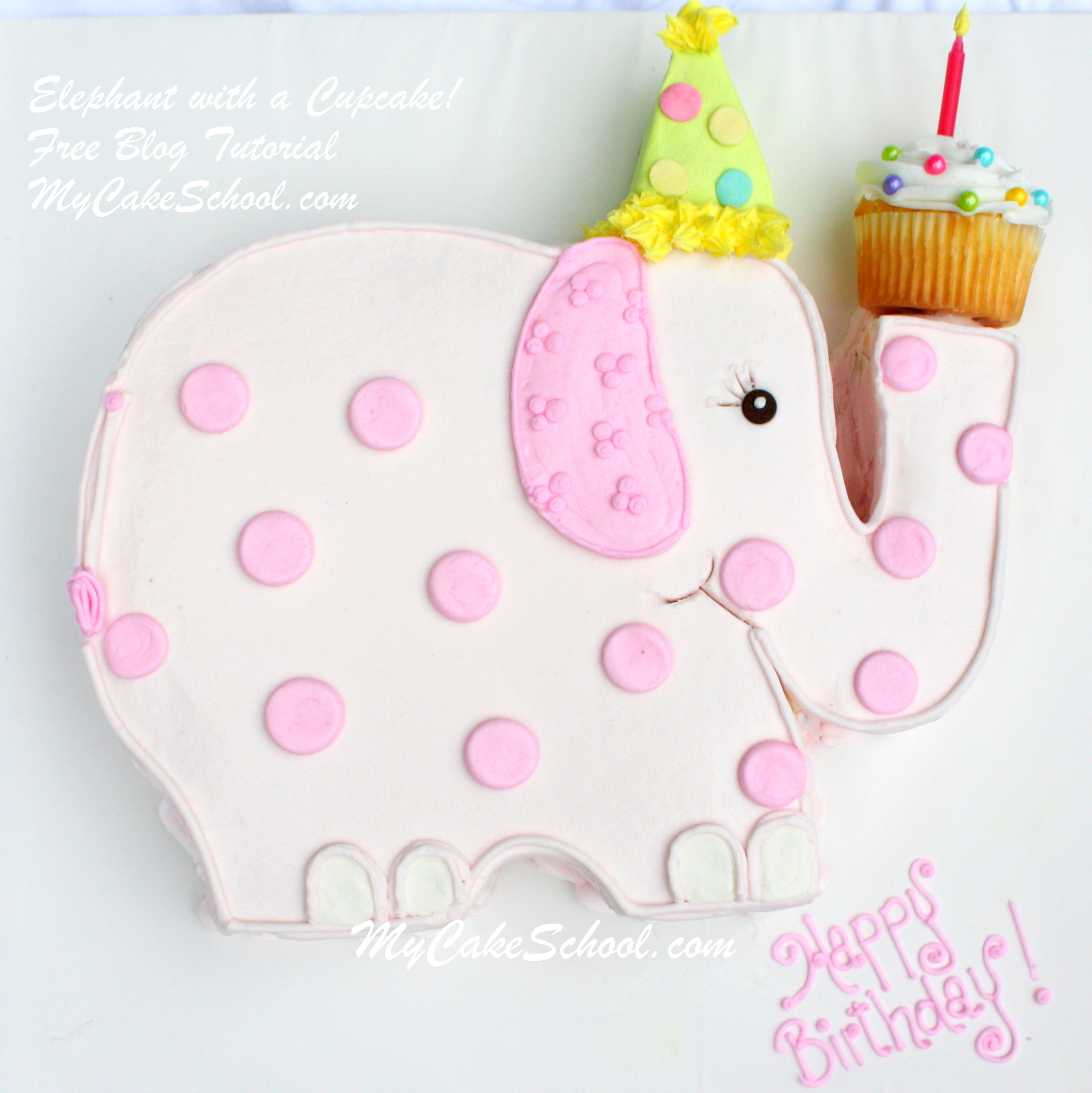 Elephant Birthday Cakes Elephant With A Cupcake A Blog Tutorial My Cake School