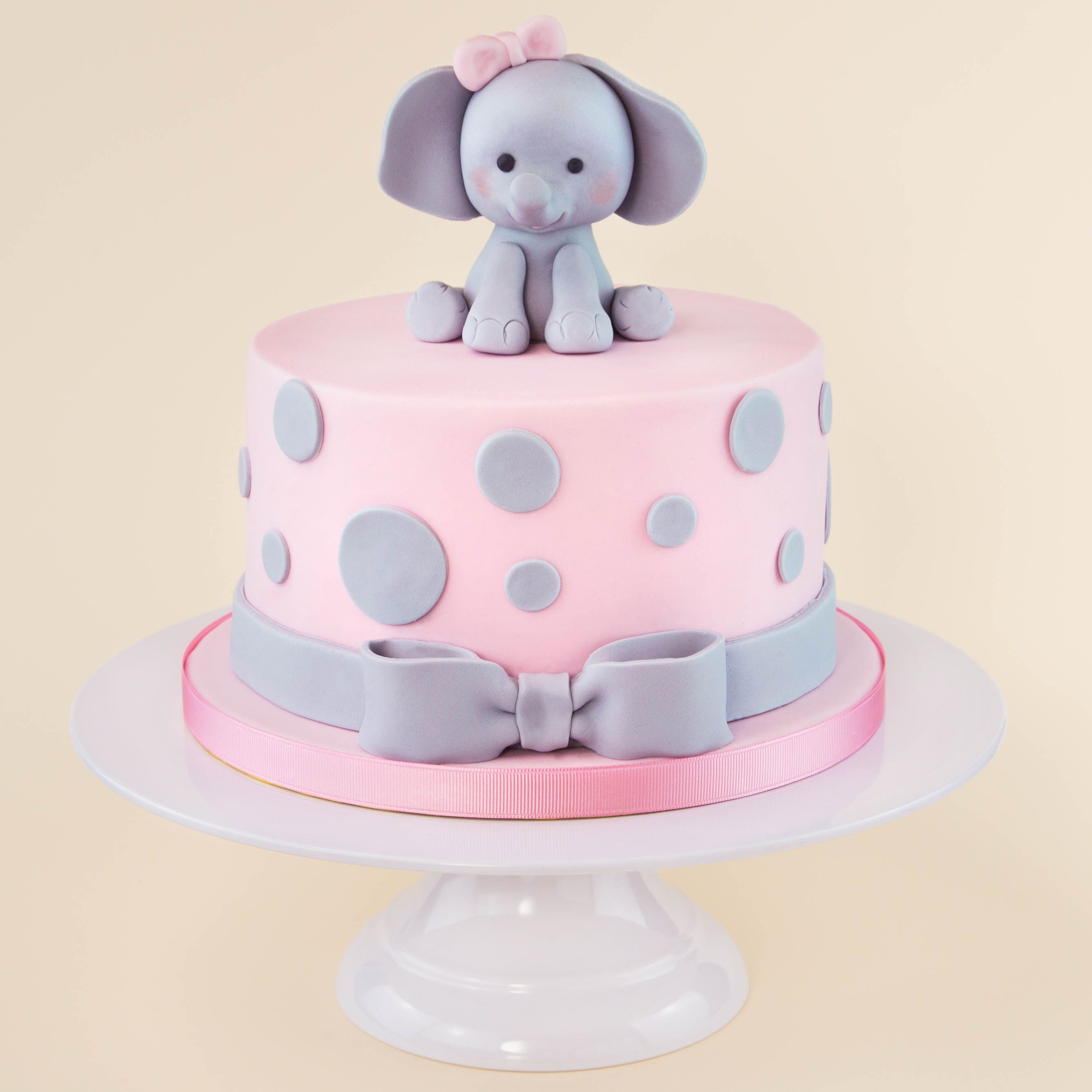 Elephant Birthday Cakes Pink Cake Party Ideas Pinterest