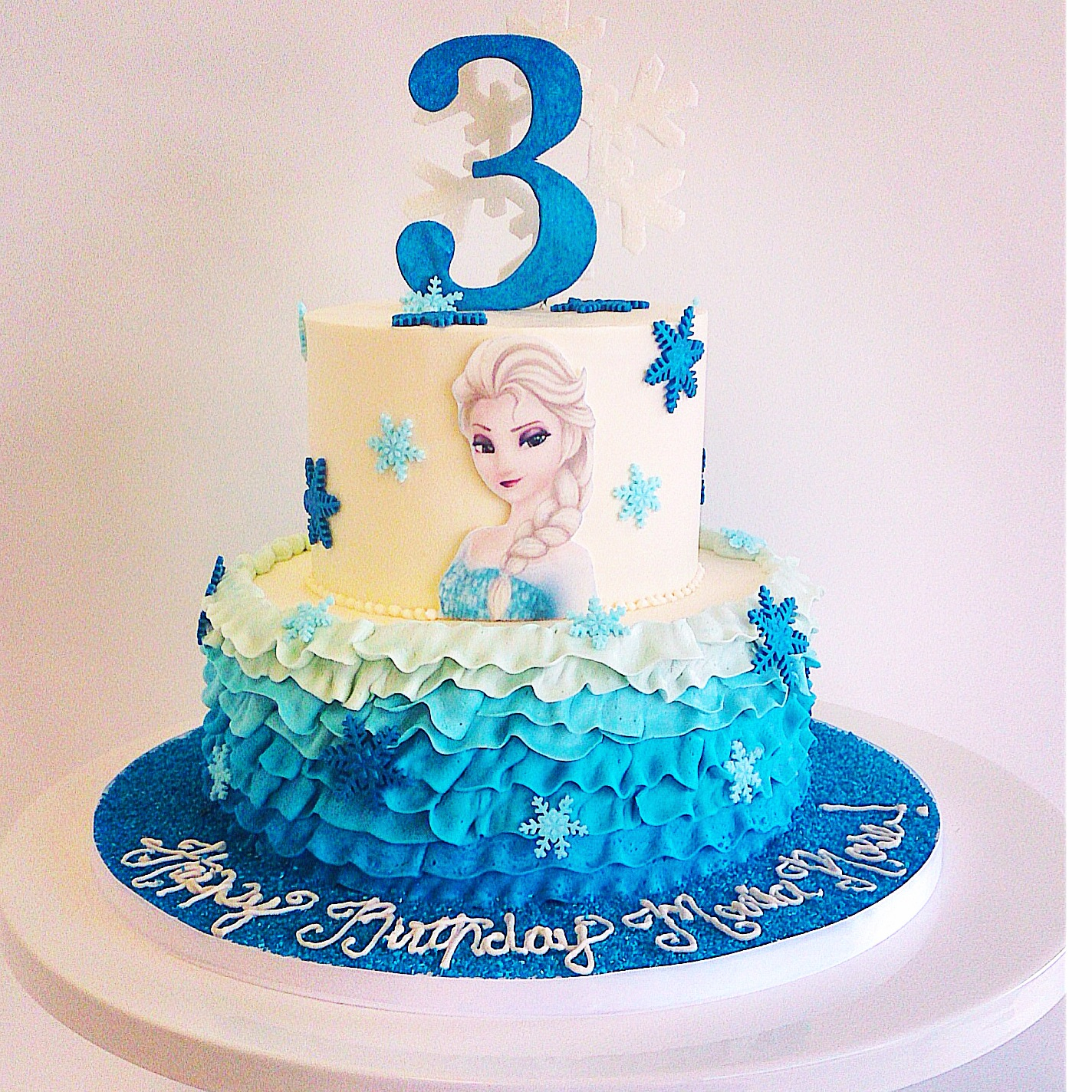 Elsa Birthday Cake Birthday Cakes For Kids Fluffy Thoughts Cakes Mclean Va And