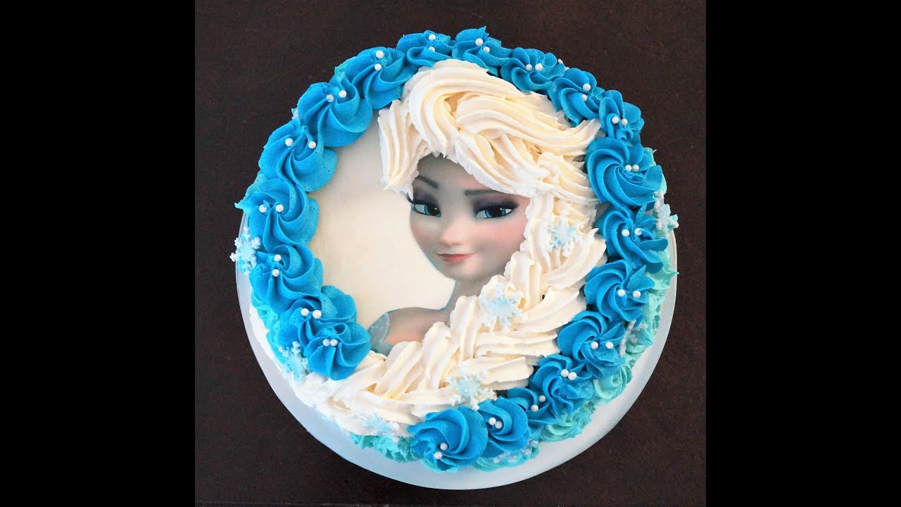 Elsa Birthday Cake Cake Decorating Tutorial How To Make Elsa Buttercream Cake