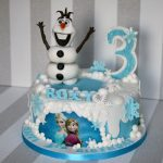 Elsa Birthday Cake Disney Frozen Cake Olaf And Elsa Birthday Cake Bakealous