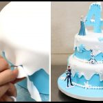 Elsa Birthday Cake How To Make A Frozen Disney Cake Cakesstepstep Youtube