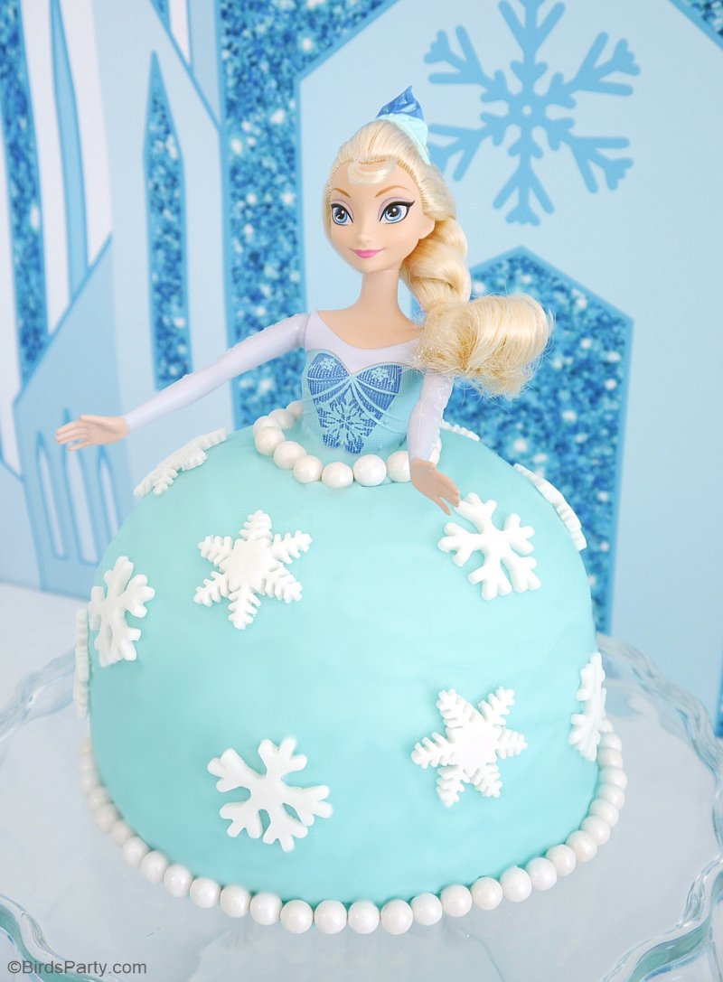 Elsa Birthday Cake How To Make An Elsa Doll Birthday Cake Party Ideas Party