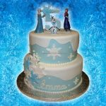 Elsa Birthday Cakes 2 Tier Buttercreamfondant Disney Frozen Birthday Cake With Anna Elsa