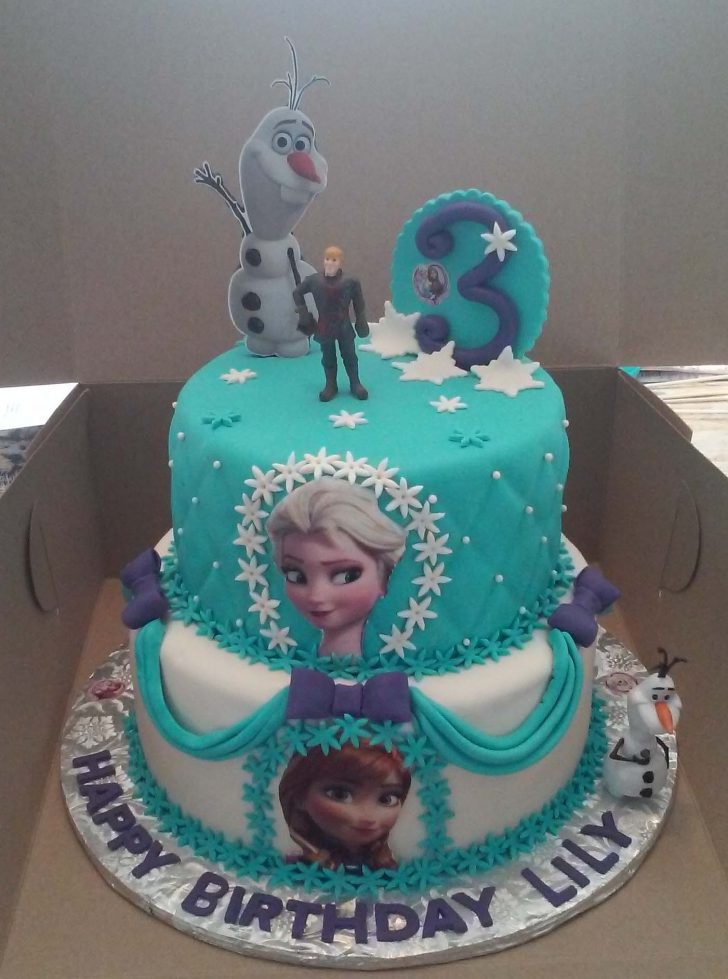 Elsa Birthday Cakes 2 Tier Elsa And Anna Frozen Themed Birthday Cake Cakecentral