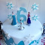 Elsa Birthday Cakes Frozen Birthday Cake Covered In Fondant With Plastic Frozen