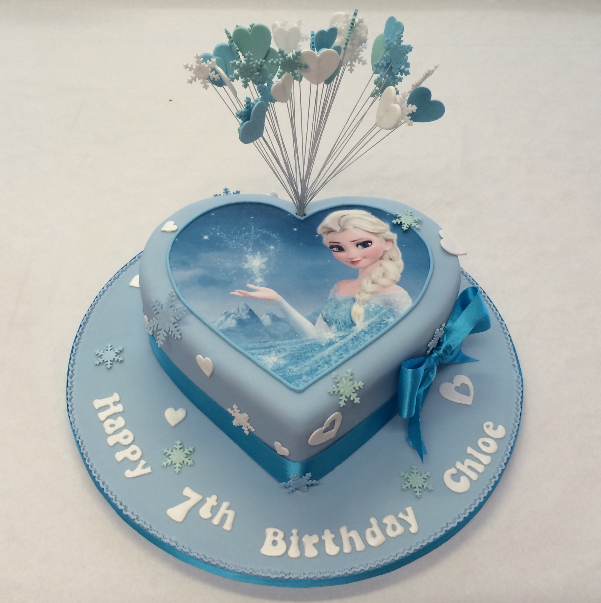 Elsa Birthday Cakes Heart Shaped Frozen Cake Girls Birthday Cakes Celebration Cakes