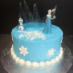 Elsa Birthday Cakes One Tier Disneys Frozen Birthday Cake Scq