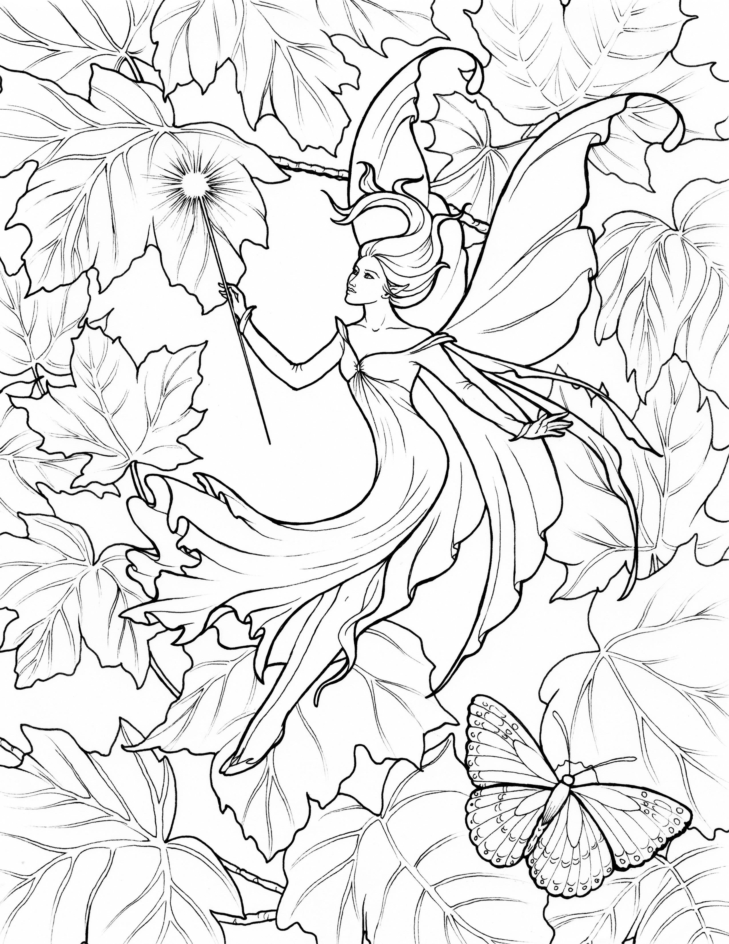Fairy Coloring Page Enjoy Fairy Coloring Pages In Fairy World Impact Books