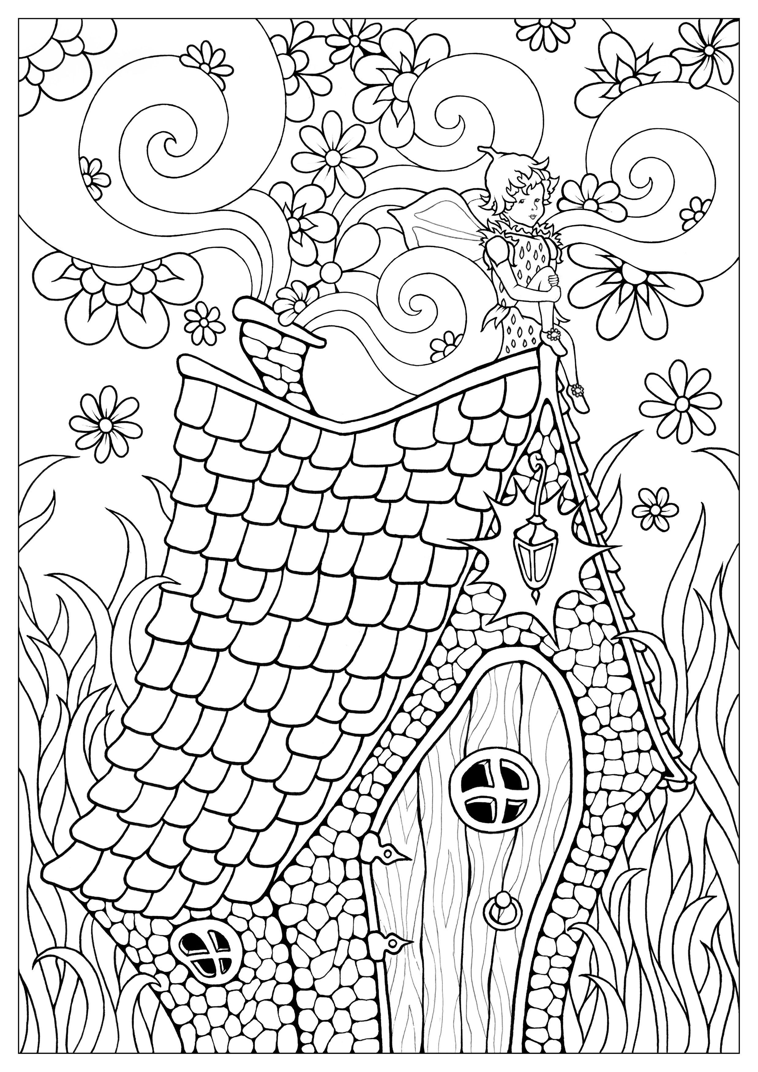 Fairy Coloring Page Fairy Coloring Pages For Adults