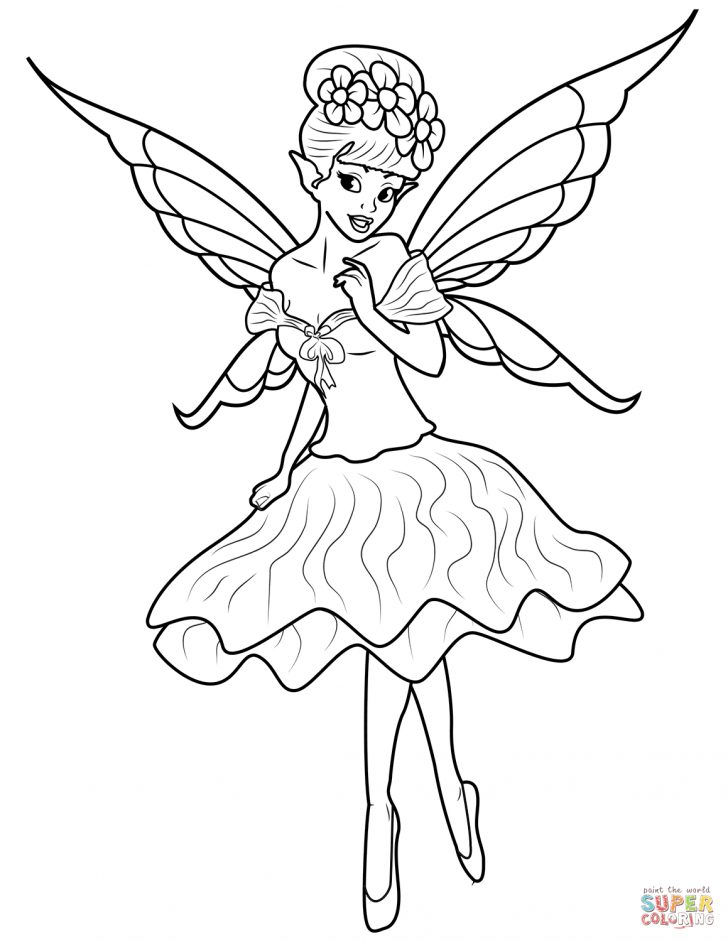 Fairy Coloring Page Fairy Coloring Pages Free Coloring Pages
