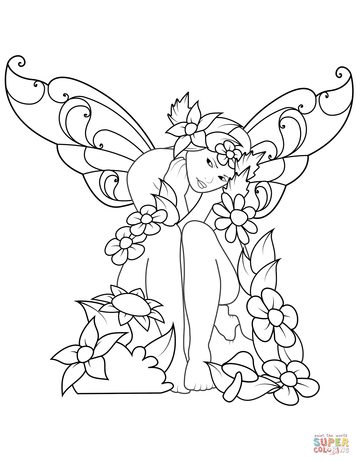 Creative Picture of Fairy Coloring Page