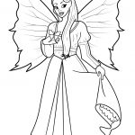Fairy Coloring Page Fairy With Butterfly Coloring Page Free Printable Coloring Pages