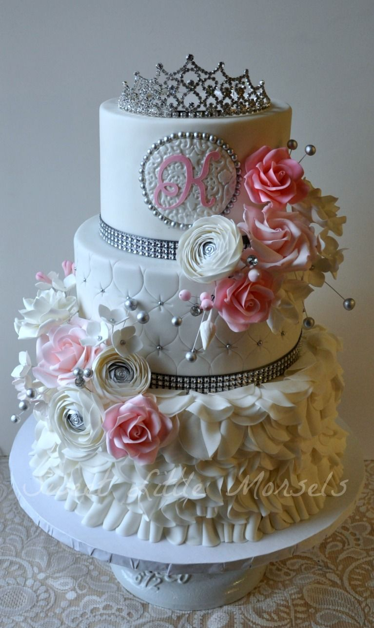 Fancy Birthday Cake Birthday Cakes Sweet 16 Cake This Is A Bit Too Fancy But I Like