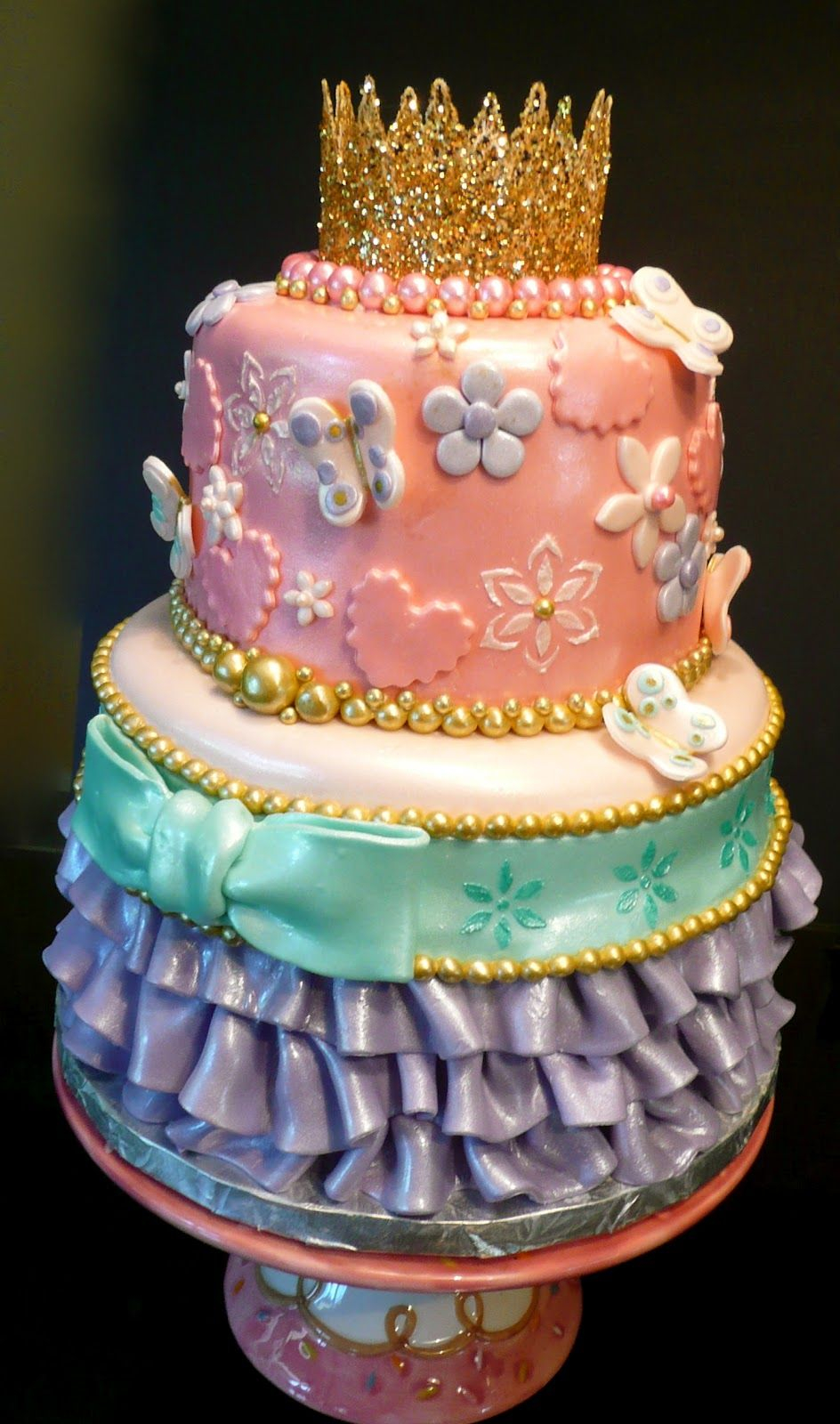 Fancy Birthday Cake Fancy Nancy Birthday Cake Which Is Very Princessy And I Think Nancy