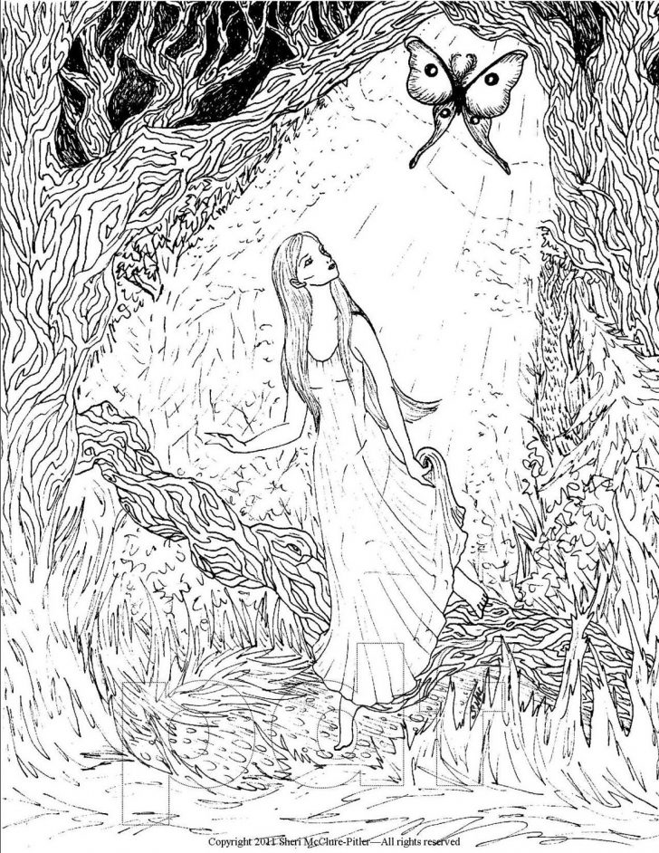 Fantasy Coloring Pages Free Printable Coloring Pages For Adults Fantasy Coloring The Art