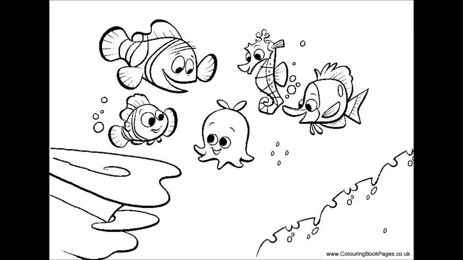 Finding Nemo Coloring Pages Bruce From Finding Nemo Coloring Pages