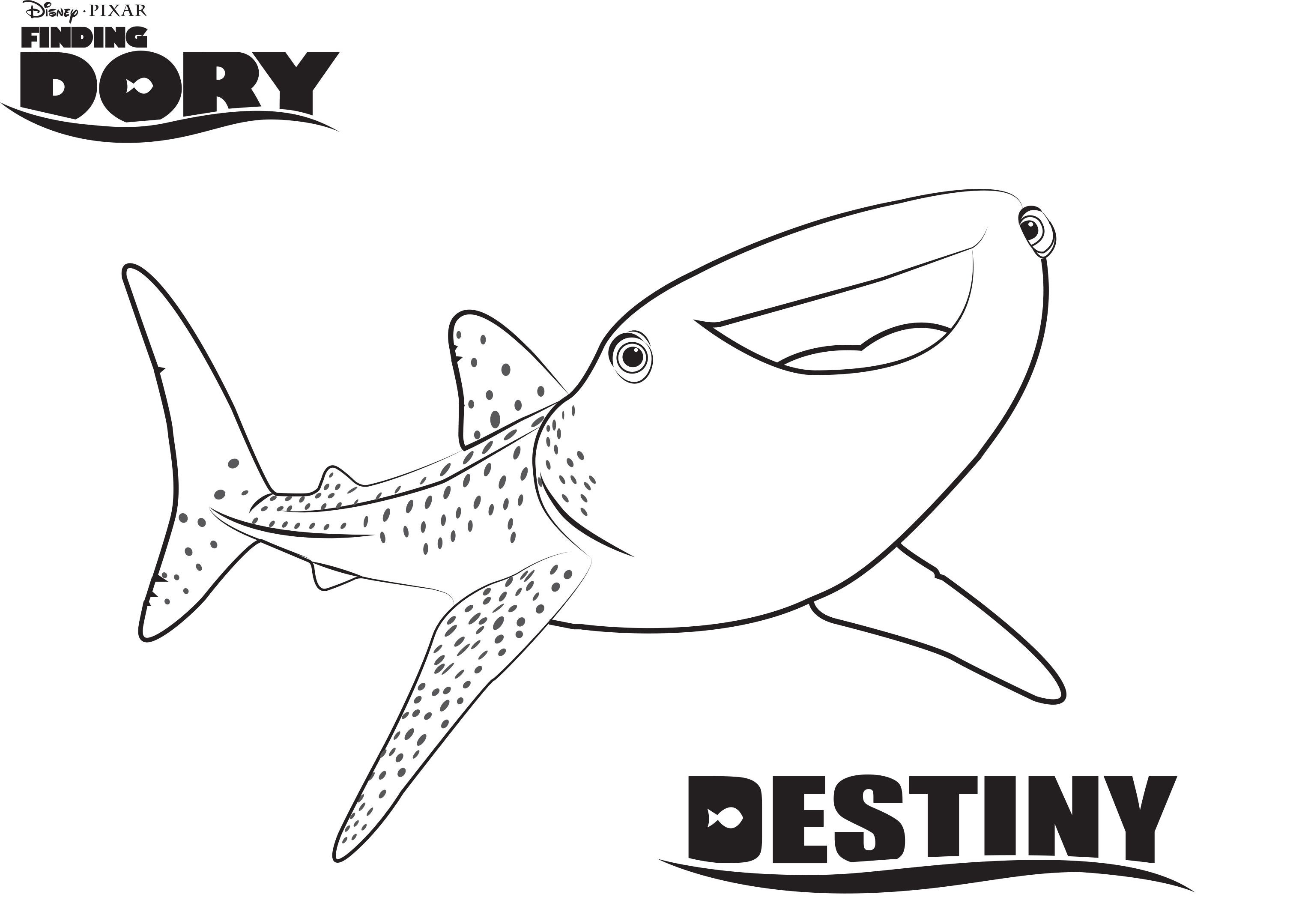 Finding Nemo Coloring Pages Disneys Finding Dory Coloring Pages Sheet Free Disney Printable
