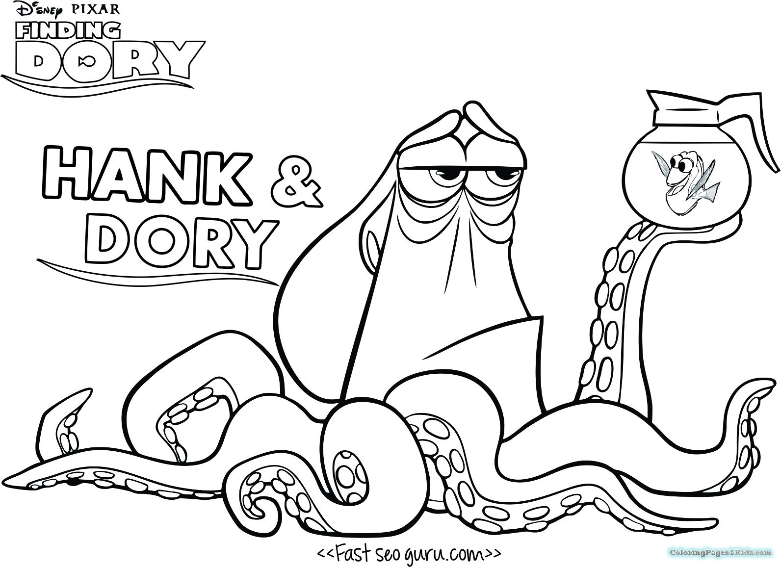 Finding Nemo Coloring Pages Finding Dory Coloring Pages 6 Futurama