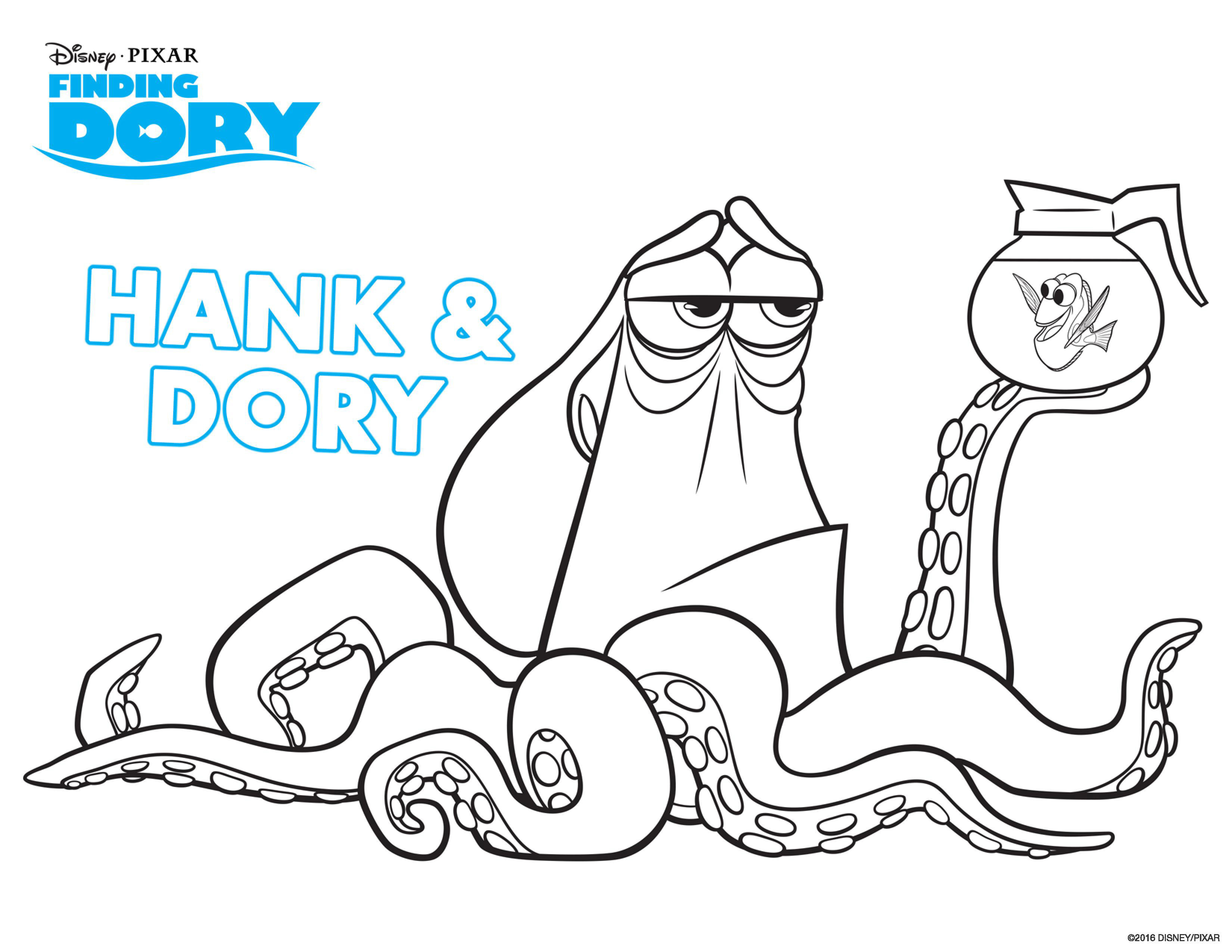 Finding Nemo Coloring Pages Finding Dory To Print Finding Dory Kids Coloring Pages