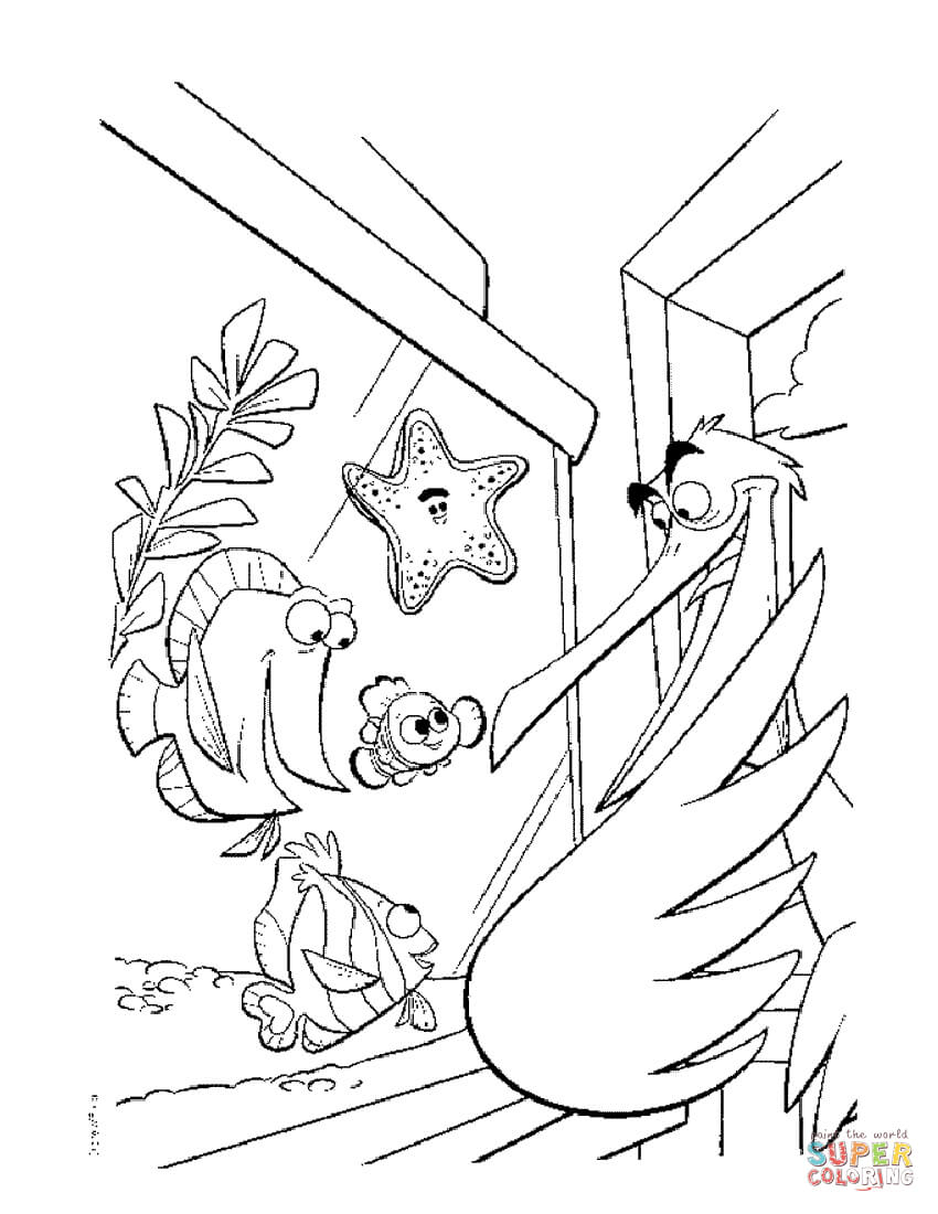 Finding Nemo Coloring Pages Finding Nemo Coloring Pages Free Coloring Pages