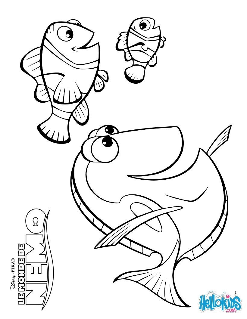 Finding Nemo Coloring Pages Finding Nemo Coloring Pages Marlin Download And Page Vietti