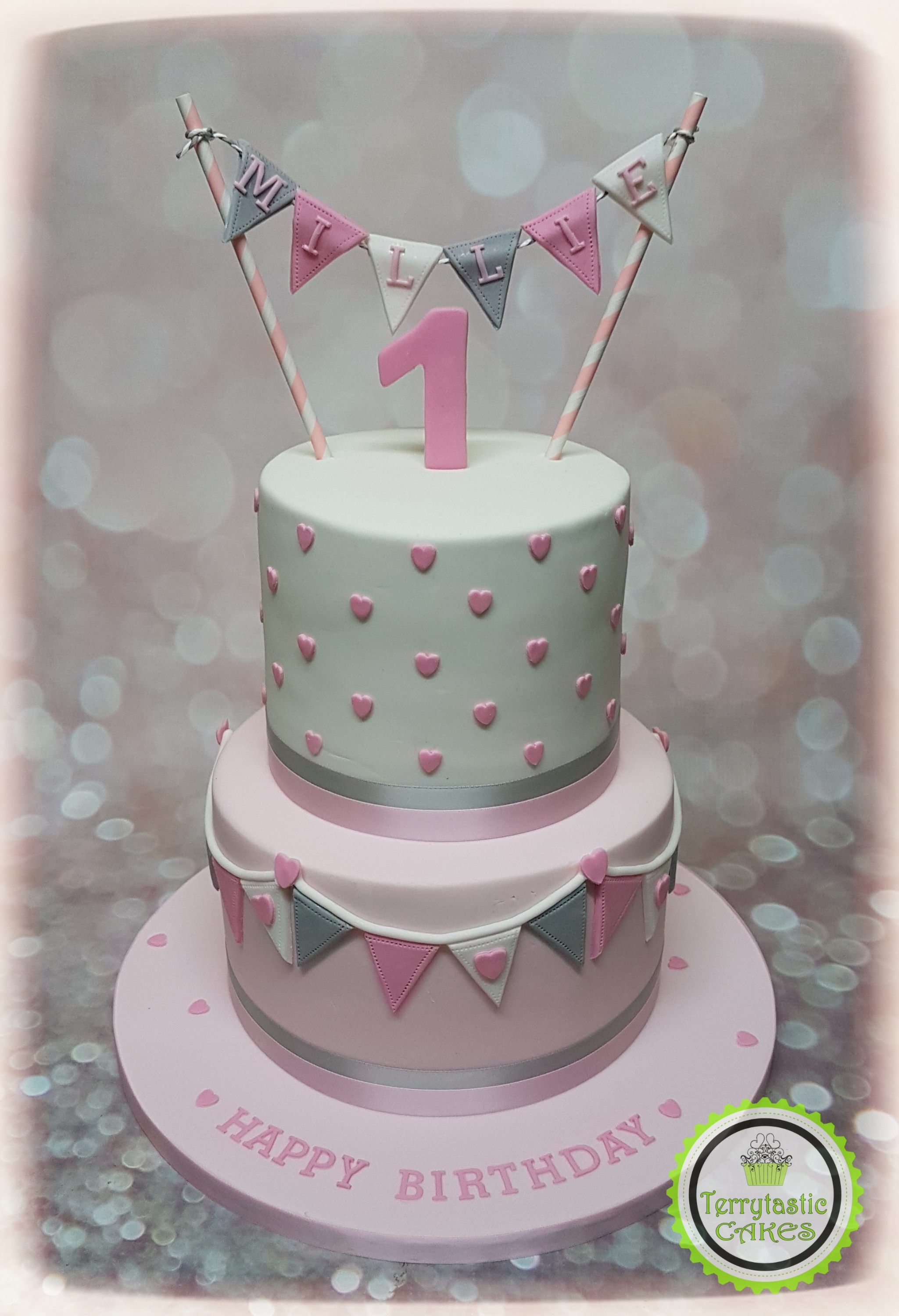 2049 X 3000 In 32 Great Picture Of First Birthday Cakes For Girls