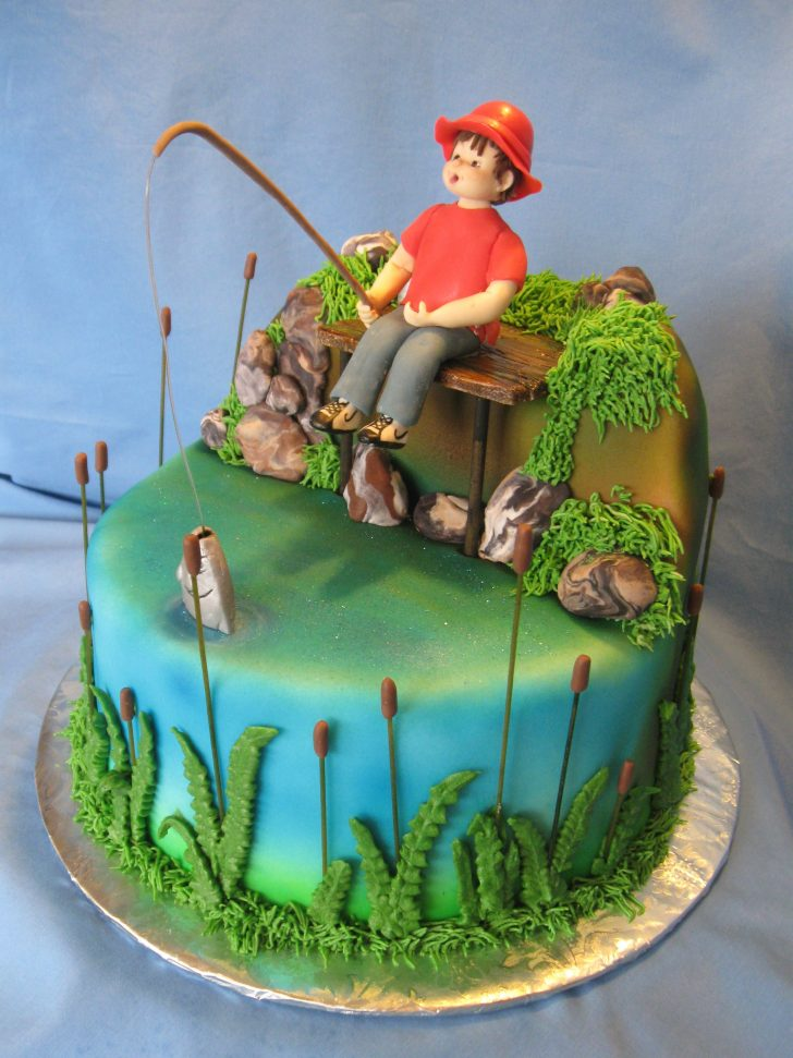 Fishing Birthday Cakes Fishing Birthday Cakes Google Search South Fish Cake Birthday