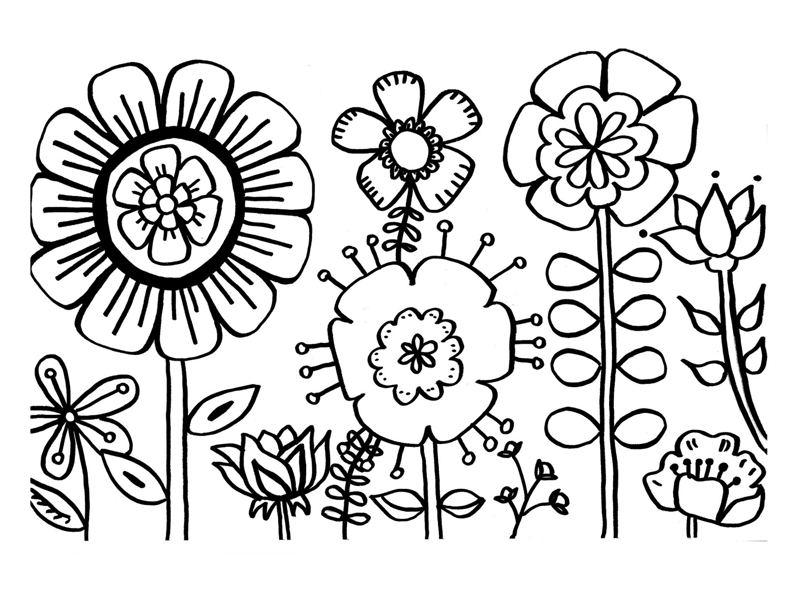 27+ Excellent Picture of Flower Coloring Pages For Kids