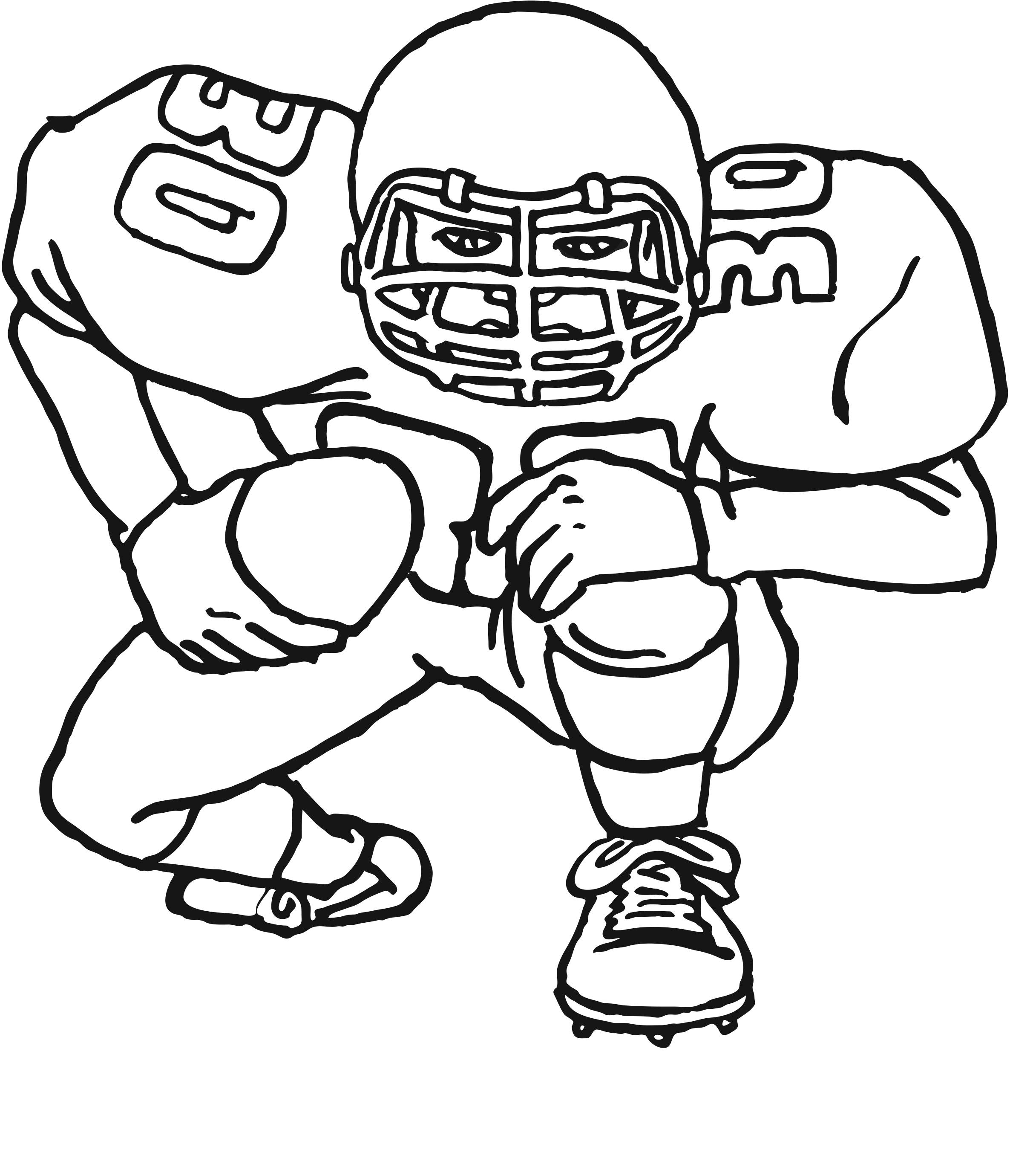 27+ Pretty Picture of Football Coloring Pages Printable
