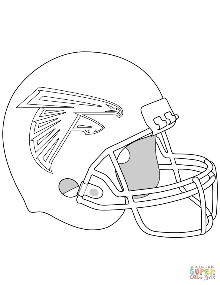 Football Helmet Coloring Page Atlanta Falcons Helmet Coloring Page Free Printable Coloring Pages