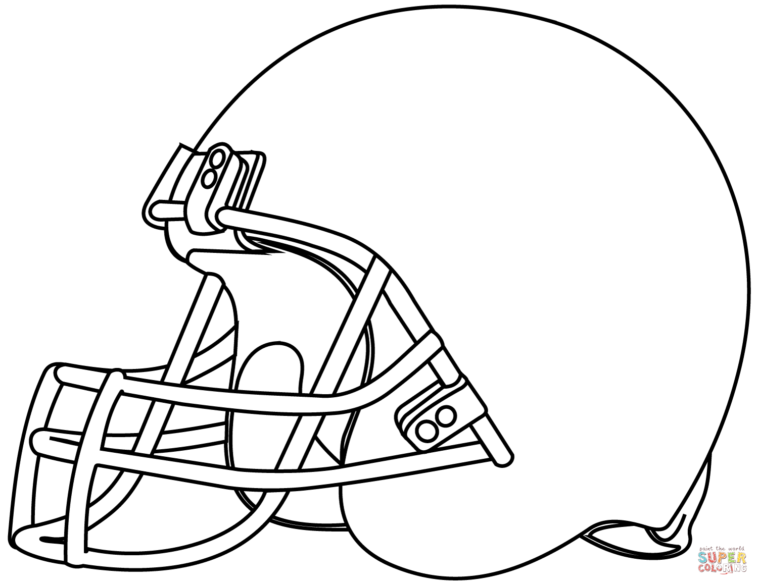 25+ Creative Picture of Football Helmet Coloring Page