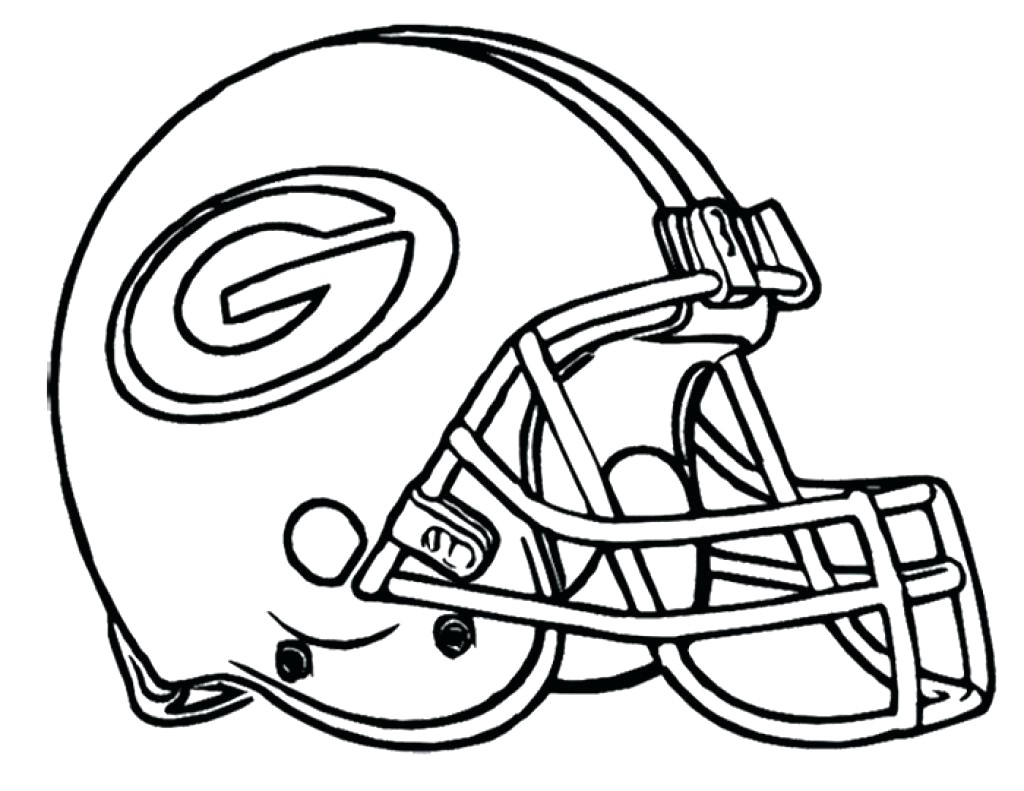 Football Helmet Coloring Page Football Helmet Coloring Pages Printable Green Bay Packers Page Kids