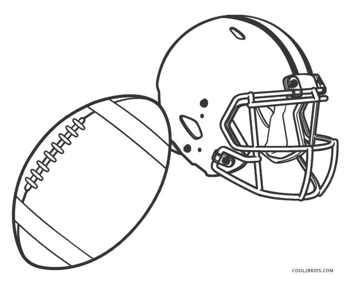 Football Helmet Coloring Page Free Printable Football Coloring Pages For Kids Cool2bkids