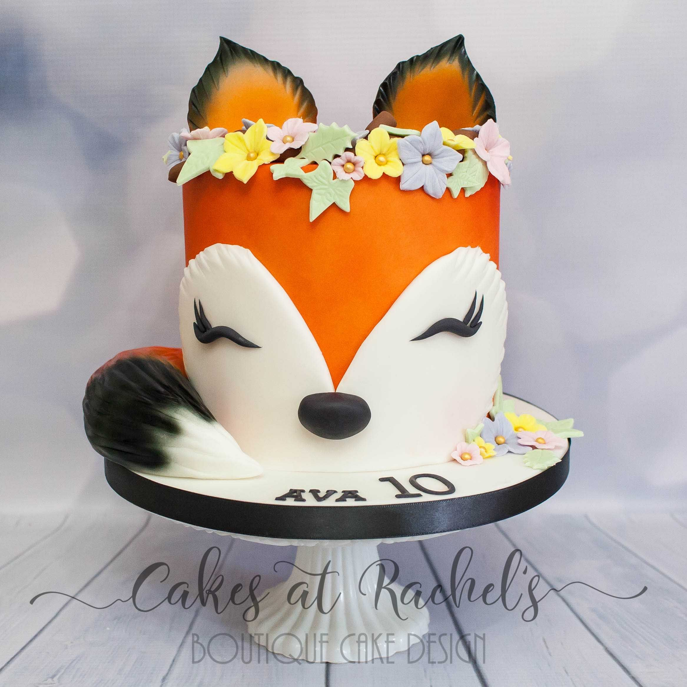 Fox Birthday Cake Sleepy Little For Girls 10th Cakes