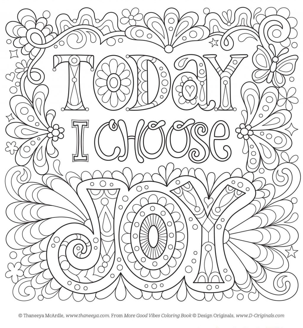 Free Adult Coloring Pages Coloring Page Free Adult Coloring Pages Today I Choose Joy Page