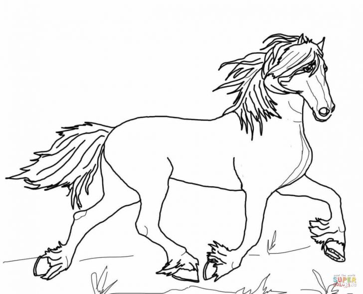 Free Horse Coloring Pages Free Horse Coloring Pages Friesian Page Printable 1200972