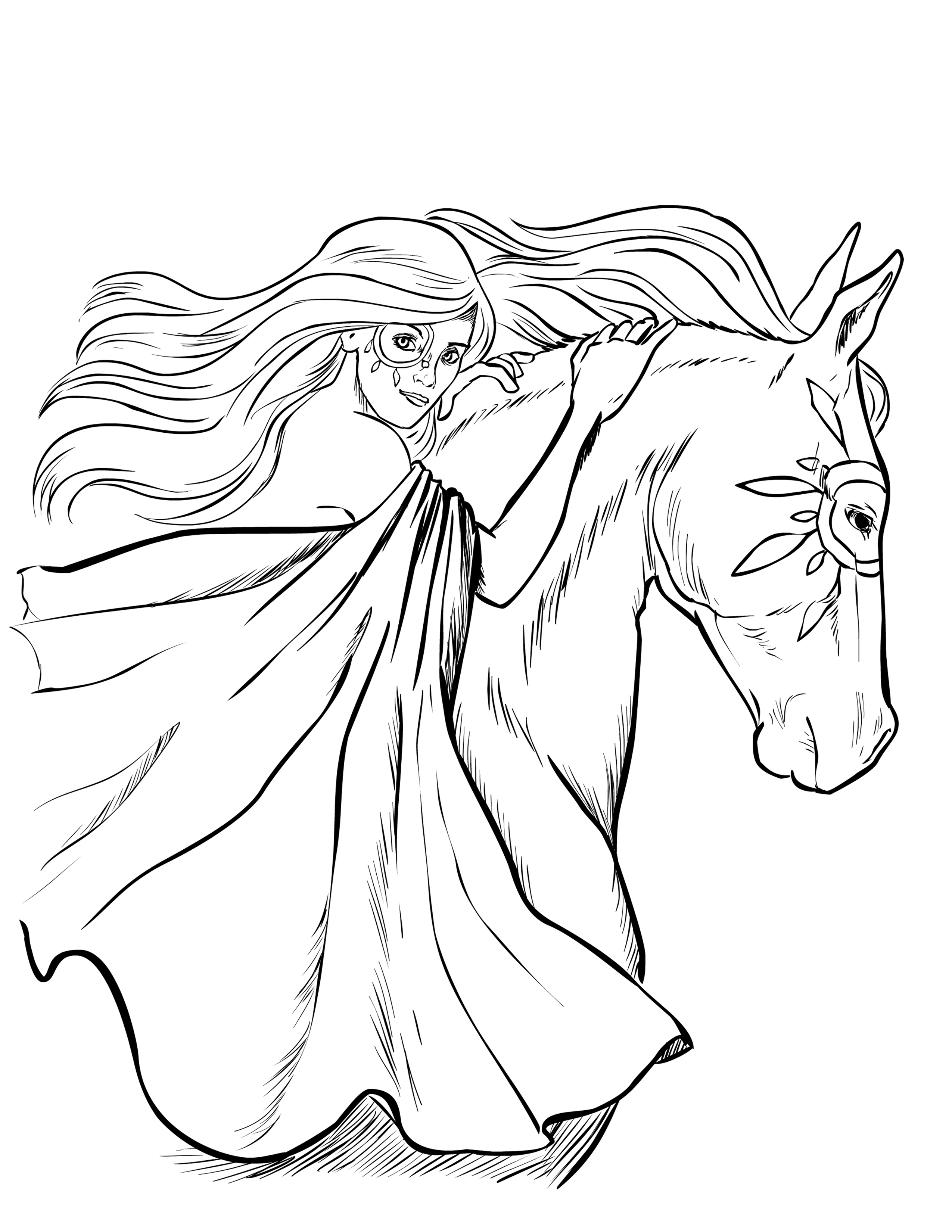 Free Horse Coloring Pages Free Horse Coloring Pages Selah Works Adult Coloring Books