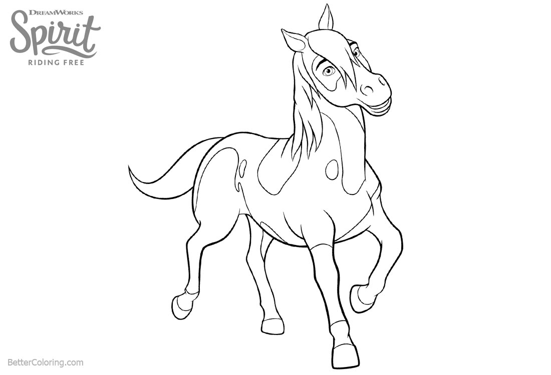 Free Horse Coloring Pages Spirit Riding Free Horse Coloring Pages Boomerang Free Printable