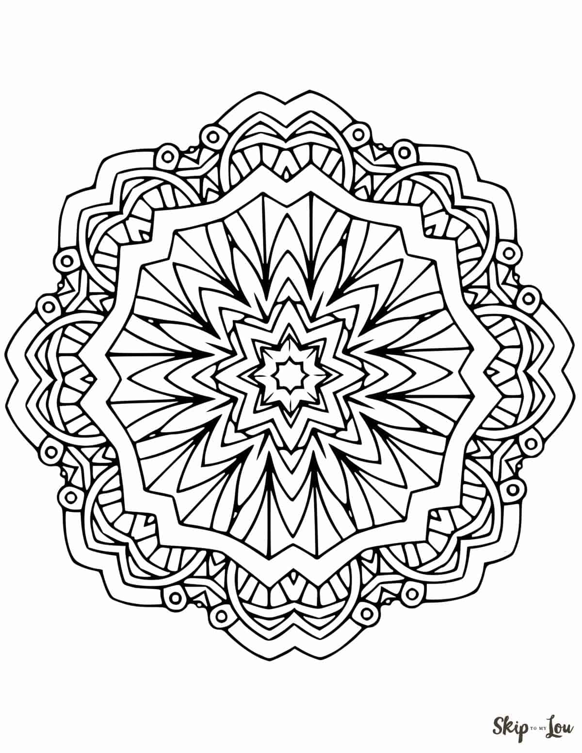 30+ Brilliant Picture of Free Mandala Coloring Pages