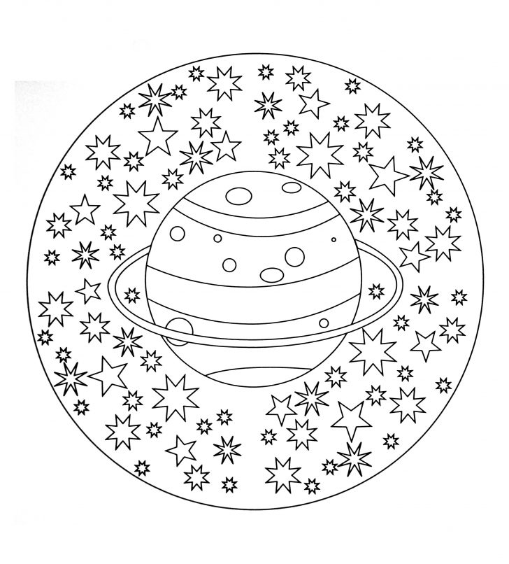 Free Mandala Coloring Pages Free Mandala To Color Planet Stars Malas Adult Coloring Pages