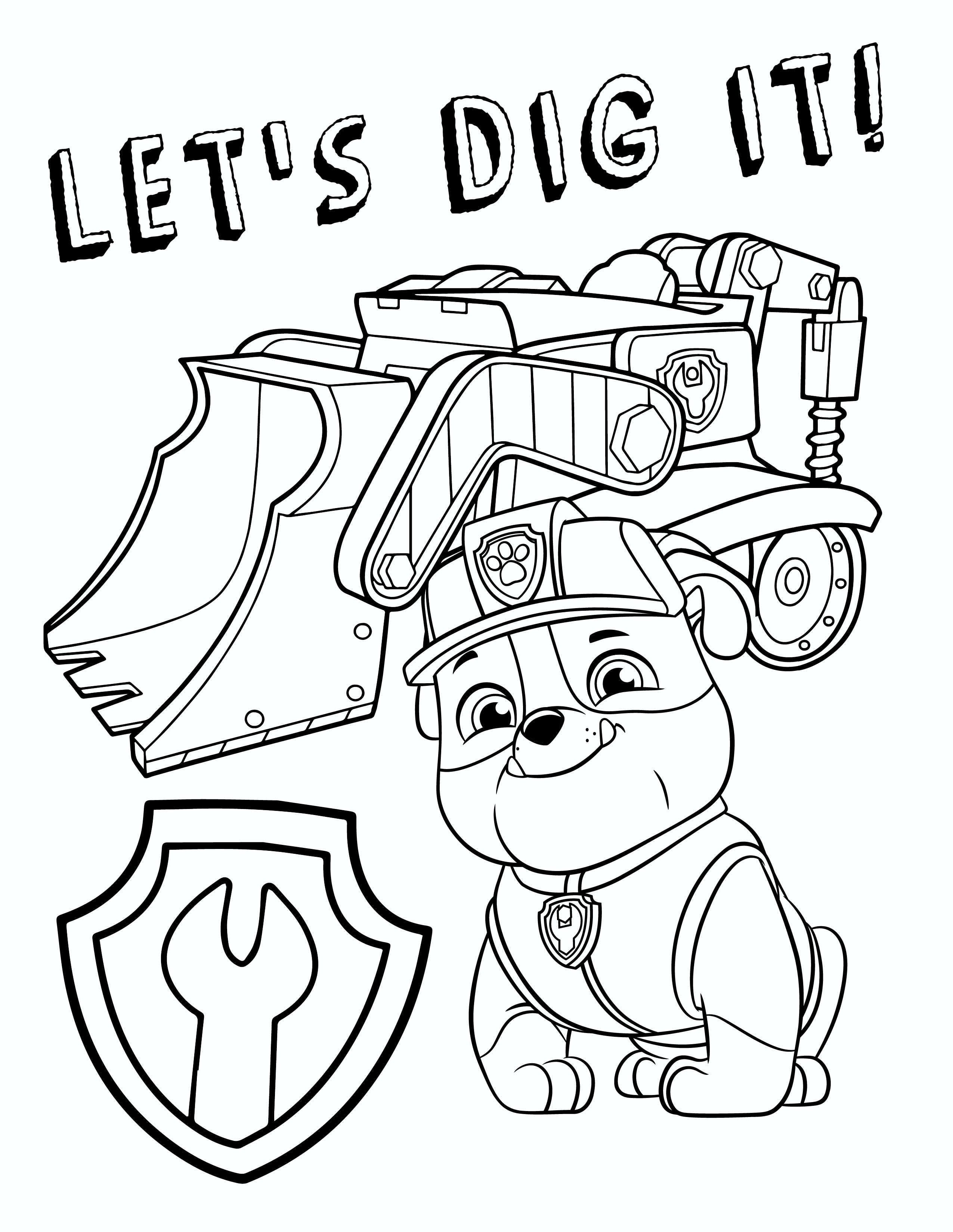 Free Paw Patrol Coloring Pages Pup Patrol Coloring Pages