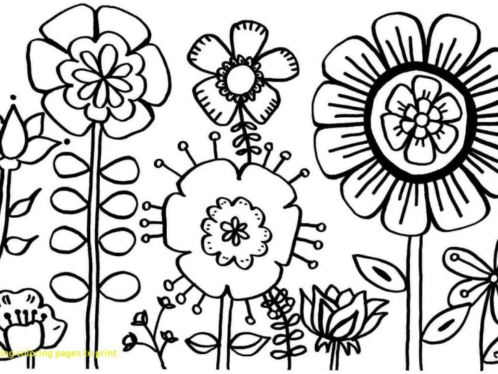 Free Printable Flower Coloring Pages Coloring Flower Sheets Simple Pages Free Potslor Printables Mandala