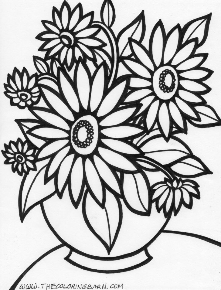 Free Printable Flower Coloring Pages Free Printable Flowers Coloring Pages Cute Flower 2018 And Formats